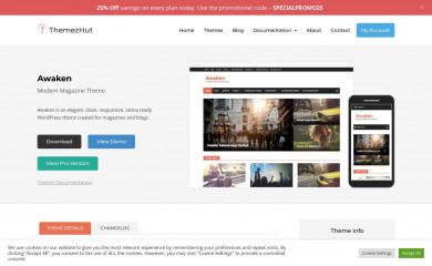 http://themezhut.com/themes/awaken screenshot