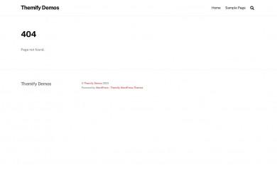 Themify Base screenshot