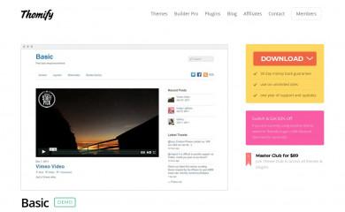 Themify Basic screenshot