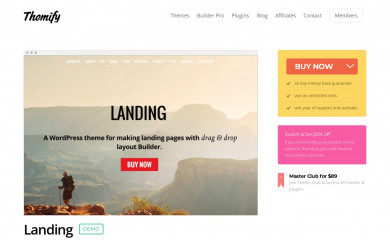 Themify Landing screenshot