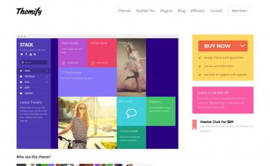 Themify Stack screenshot