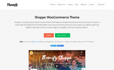 Themify Shoppe screenshot