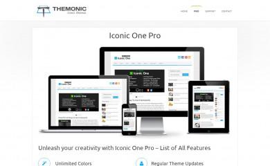 https://themonic.com/iconic-one-pro/ screenshot
