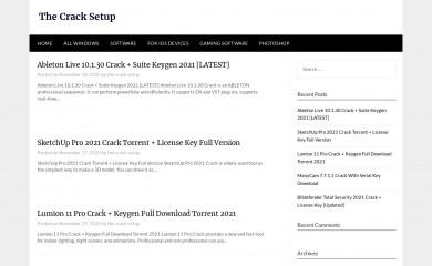 thecracksetup.com screenshot