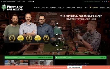 http://thefantasyfootballers.com screenshot