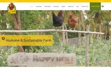 thehappyhensfarm.com screenshot
