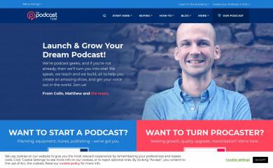 thepodcasthost.com screenshot