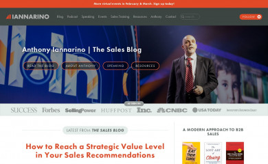 http://thesalesblog.com screenshot