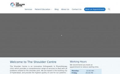 theshouldercentre.com screenshot