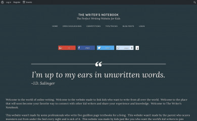 thewriternotebook.com screenshot