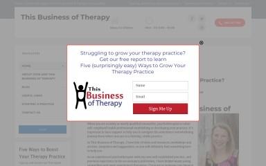 thisbusinessoftherapy.com screenshot