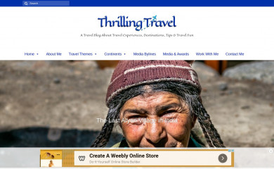 thrillingtravel.in screenshot