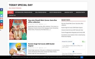 http://todayspecialday.com screenshot