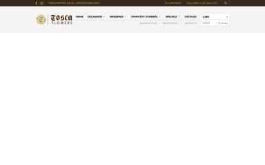 toscaflowers.com screenshot