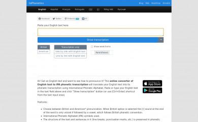tophonetics.com screenshot