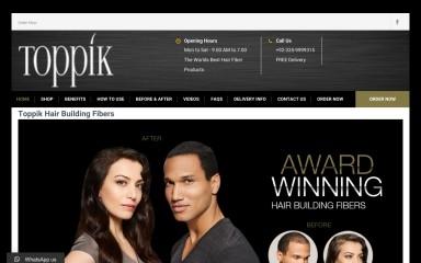 toppikhairfibers.pk screenshot