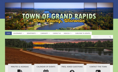 http://townofgrandrapids.org screenshot