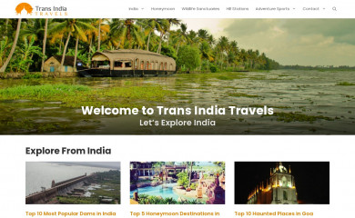 transindiatravels.com screenshot