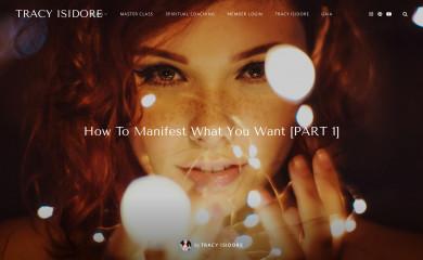 tracyisidore.com screenshot