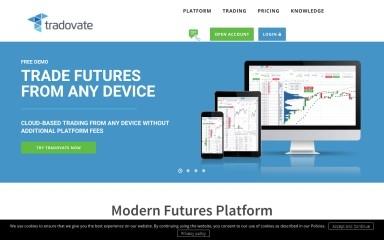 http://tradovate.com screenshot