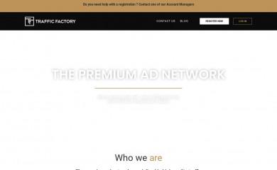 trafficfactory.com screenshot