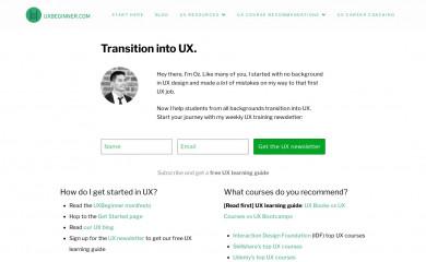 uxbeginner.com screenshot