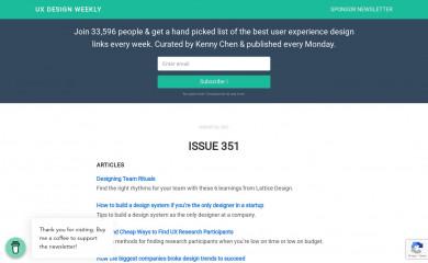 uxdesignweekly.com screenshot