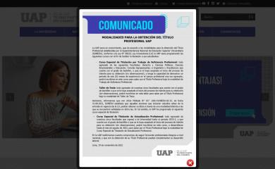 uap.edu.pe screenshot