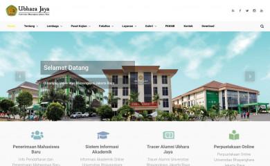 ubharajaya.ac.id screenshot