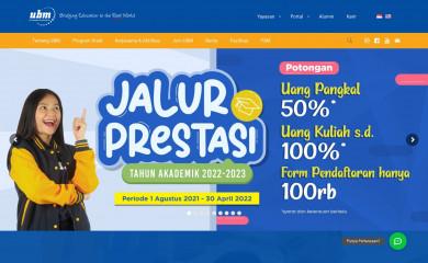 ubm.ac.id screenshot