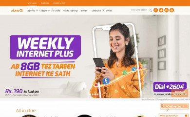 ufone.com screenshot