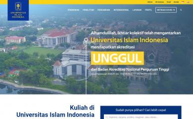 http://uii.ac.id screenshot