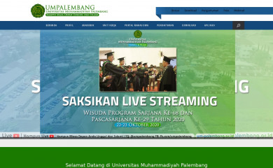 um-palembang.ac.id screenshot