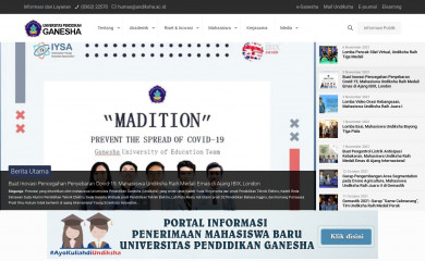http://undiksha.ac.id screenshot