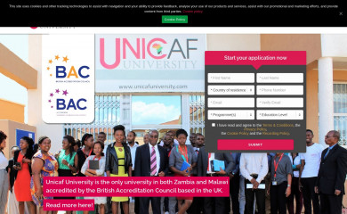 unicafuniversity.com screenshot