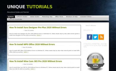 unique-tutorials.info screenshot