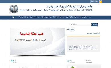 univ-usto.dz screenshot