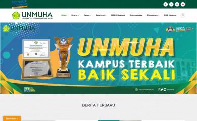 unmuha.ac.id screenshot