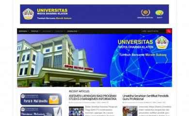 unwidha.ac.id screenshot