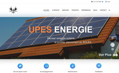 upesenergie.com screenshot