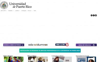 upr.edu screenshot
