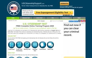 uscitizenshipsupport.com screenshot
