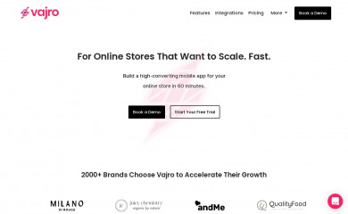 vajro.com screenshot