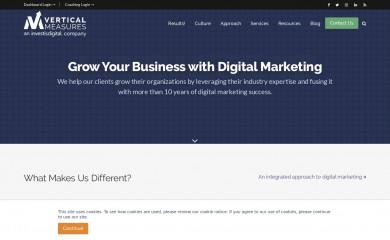verticalmeasures.com screenshot