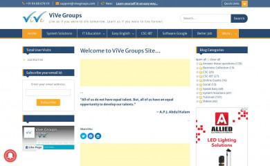 vivegroups.com screenshot