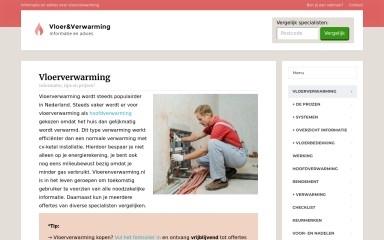 vloerenverwarming.nl screenshot