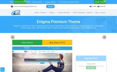 http://weblizar.com/themes/enigma/ screenshot