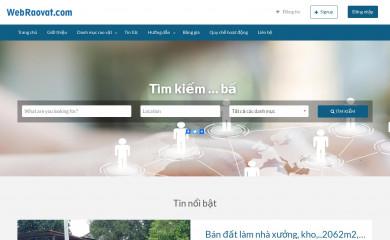 http://webraovat.com screenshot