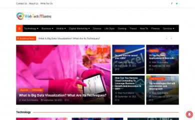 webtechmantra.com screenshot