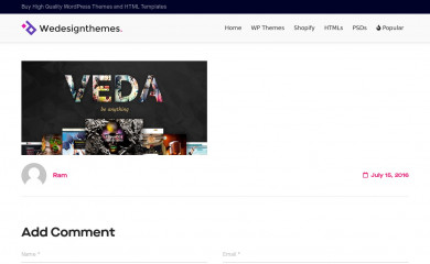 https://wedesignthemes.com/veda/ screenshot